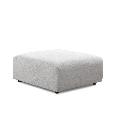 HK-living Elément de canapé Jax hocker gris clair textile 94x94x43cm