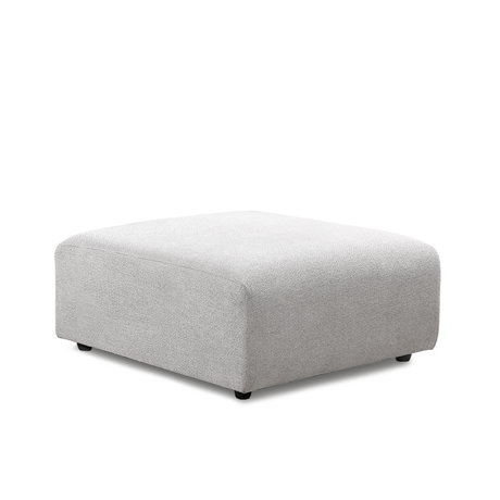 HK-living Sofa element Jax hocker light gray textile 94x94x43cm