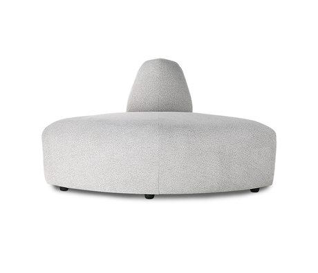 HK-living Sofa Element Jax Ecke hellgrau Textil 95x95x74cm