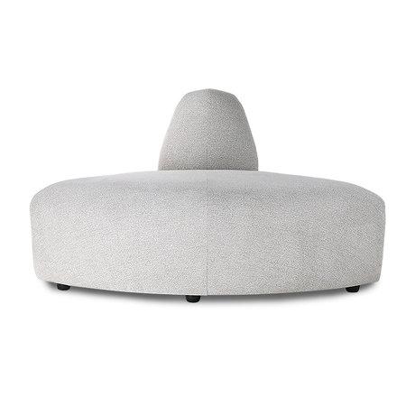 HK-living Elément de canapé Jax corner gris clair textile 95x95x74cm