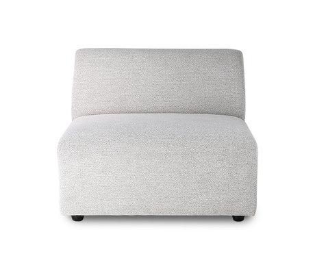 HK-living Sofa element Jax medium light gray textile 89x94x76cm