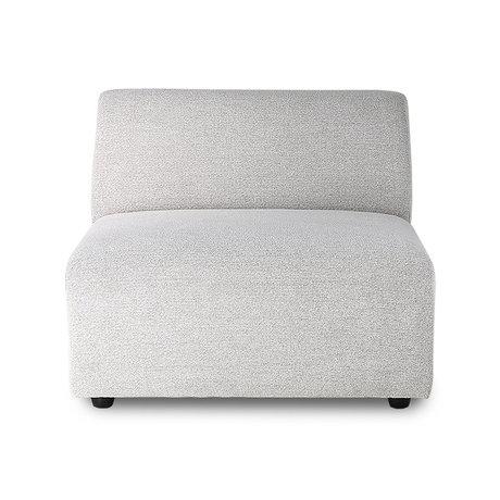 HK-living Bank element Jax midden licht grijs textiel 89x94x76cm