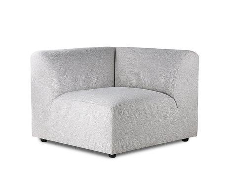 HK-living Elément de canapé Jax droite textile gris clair 94x94x76cm