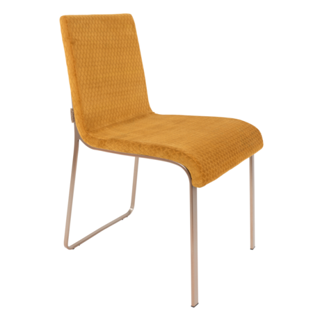Dutchbone Dining room chair Flor ocher yellow textile 43x55x81cm