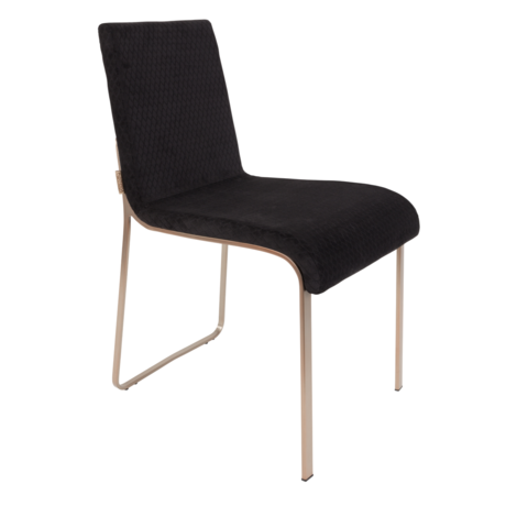 Dutchbone Dining room chair Flor black textile 43x55x81cm