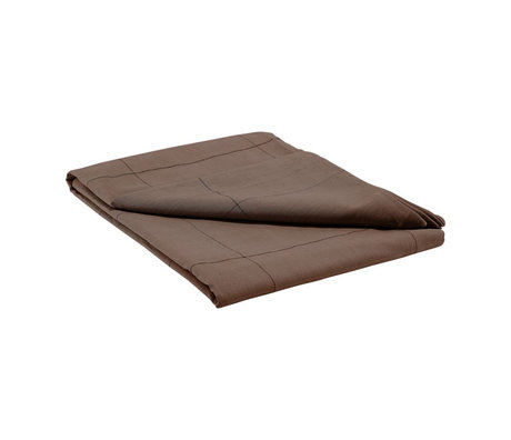 Housedoctor Tablecloth Virra brown cotton 250x140cm