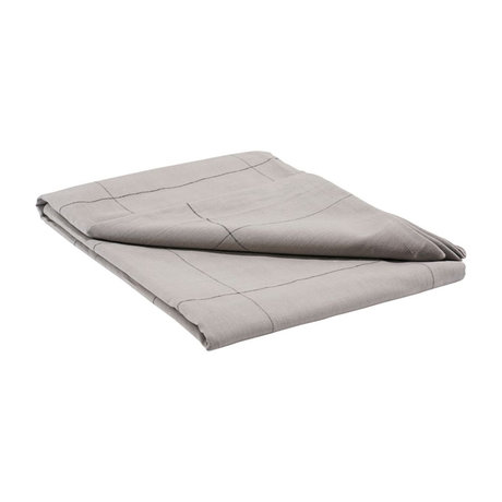 Housedoctor Tablecloth Irra gray cotton 250x140cm