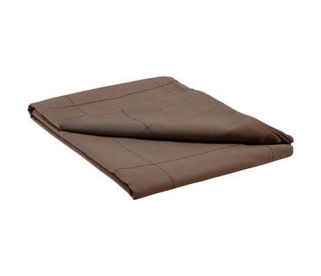 Housedoctor Tablecloth Virra brown cotton 330x140cm