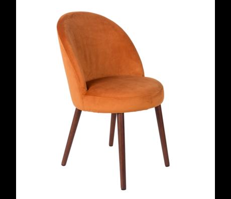 Dutchbone Eetkamerstoel Barbara oranje textiel 51x59x85,5cm