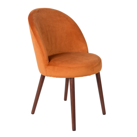 Dutchbone Esszimmerstuhl Barbara orange Textil 51x59x85.5cm