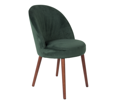 Dutchbone Chaise de salle à manger Barbara textile vert 51x59x85.5cm