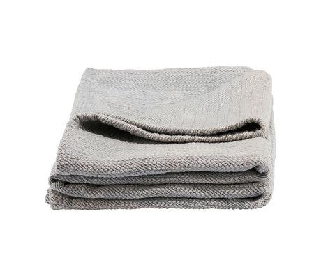 Housedoctor Plaid Durcy coton gris 180x130cm