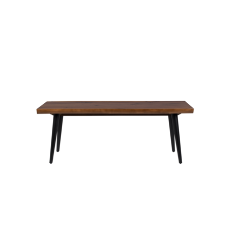 DUTCHBONE Eetkamerbank Alagon bruin hout 120x40x45cm