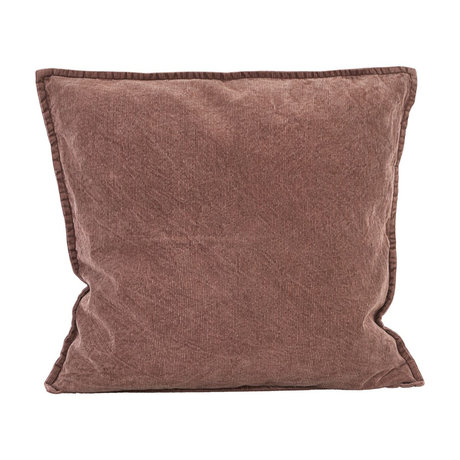 Housedoctor Cushion cover Cur red brown cotton 50x50cm