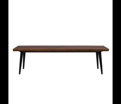 DUTCHBONE Eetkamerbank Alagon bruin hout 160x40x45cm