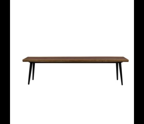 Dutchbone Eetkamerbank Alagon bruin hout 180x40x45cm