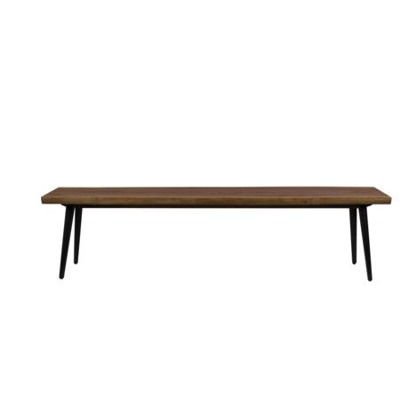 Dutchbone Banc de salle à manger Alagon brun bois 180x40x45cm