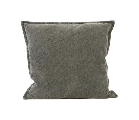 Housedoctor Kussenhoes Cur donker grijs katoen 50x50cm