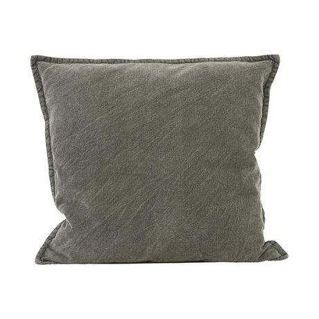 Housedoctor Enveloppe de coussin Cur coton gris foncé 50x50cm