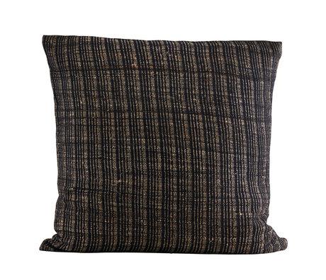 Housedoctor Kussenhoes Ritika 2 zwart bruin textiel 60x60cm