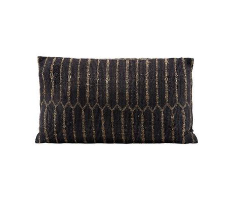 Housedoctor Ritika 3 housse de coussin noir textile noir 50x30cm