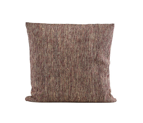 Housedoctor Kussenhoes Riti rood bruin textiel 50x50cm