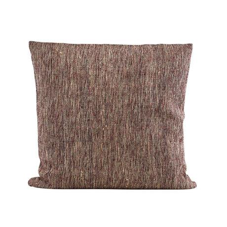 Housedoctor Housse de coussin Riti textile marron rouge 50x50cm