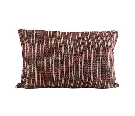 Housedoctor Cushion cover Riti red brown textile 60x40cm