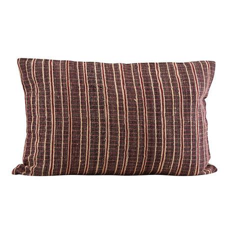 Housedoctor Housse de coussin Riti textile marron rouge 60x40cm