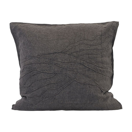 Housedoctor Cushion cover Pleats brown linen 60x60cm