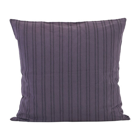 Housedoctor Housse de coussin en coton violet prune complémentaire 60x60cm