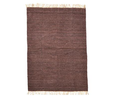 Housedoctor Teppich Rama braun cremeweiß Sackleinen 200x300cm