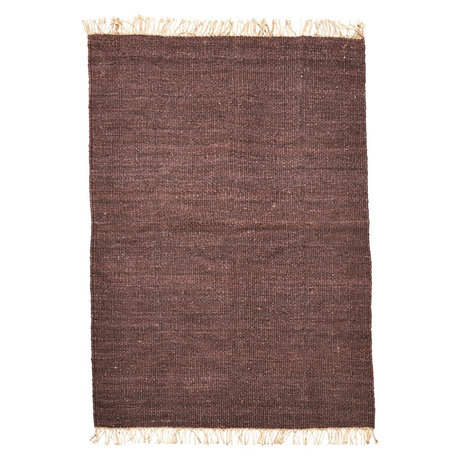 Housedoctor Vloerkleed Rama bruin gebroken wit jute 200x300cm