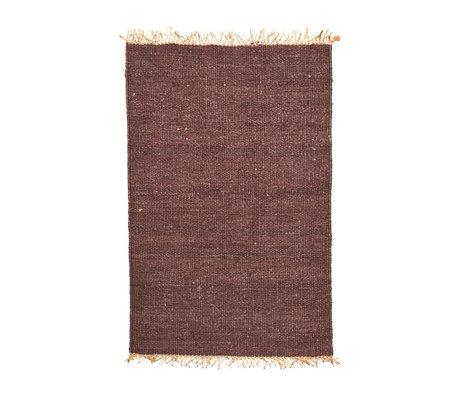 Housedoctor Teppich Rama braun cremeweiß Sackleinen 140x200cm