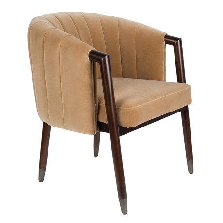 DUTCHBONE Sessel Tammy Caramel braun Textil 63,5x64x78cm