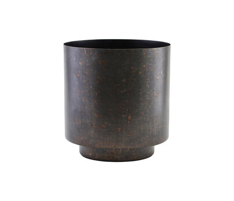 Housedoctor Bloempot Como mat zwart ijzer S Ø15x19cm