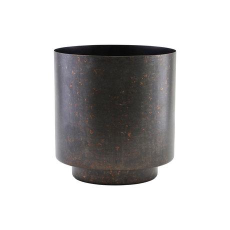 Housedoctor Flowerpot Como matt black iron S Ø15x19cm
