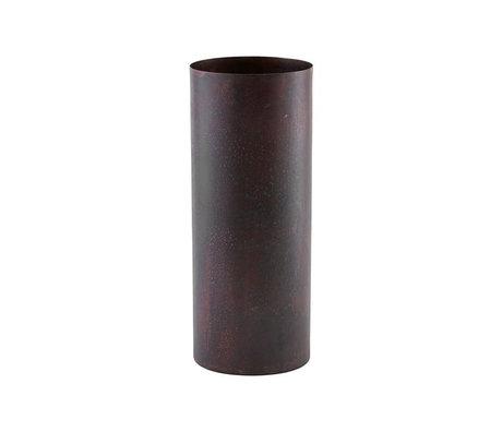 Housedoctor Vaas Effect rood staal Ø10x28cm