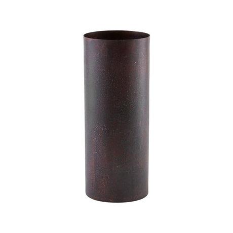 Housedoctor Vase Effect red steel Ø10x28cm
