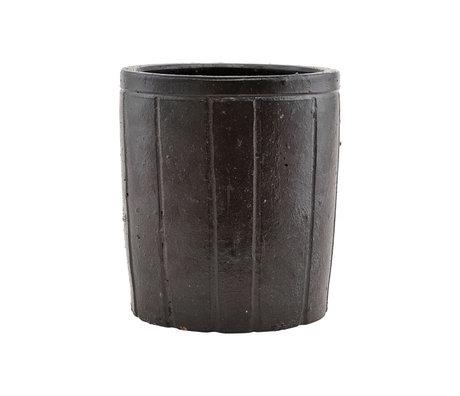Housedoctor Flowerpot Julian brown earthenware L Ø18x20cm