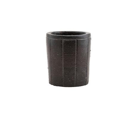Housedoctor Flowerpot Julian brown earthenware S Ø12x14cm