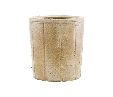 Housedoctor Flowerpot Julian beige earthenware L Ø18x20cm
