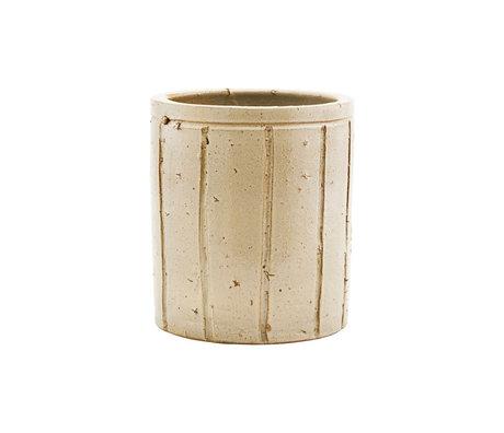 Housedoctor Flowerpot Julian beige earthenware M Ø15x17cm