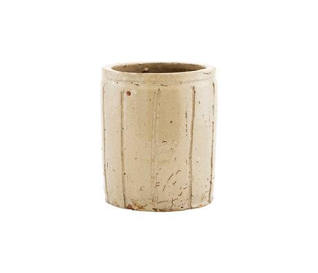 Housedoctor Bloempot Julian beige aardewerk S Ø12x14cm