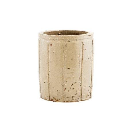 Housedoctor Flowerpot Julian beige earthenware S Ø12x14cm