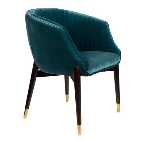 DUTCHBONE Dining room chair Dolly blue textile 61x63x82cm