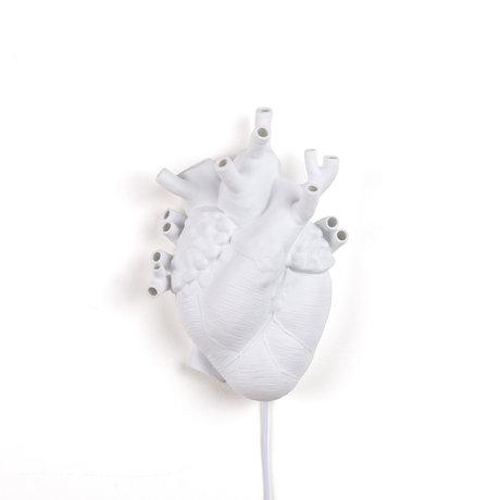 Seletti Wall lamp Heart white porcelain 22x11x32cm