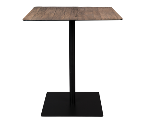 DUTCHBONE Table de bar Braza Square en métal marron 70x70x93cm
