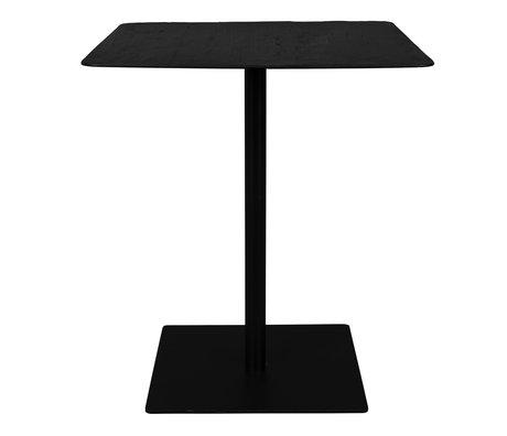 DUTCHBONE Bar table Braza Square black metal 70x70x93cm