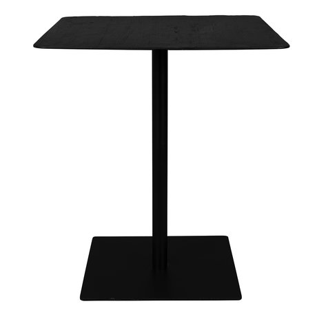 DUTCHBONE Table de bar Braza Square en métal noir 70x70x93cm